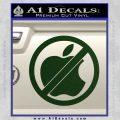 Apple Anti Decal Sticker No Mac Dark Green Vinyl 120x120
