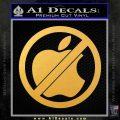 Apple Anti Decal Sticker No Mac Gold Vinyl 120x120