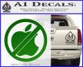 Apple Anti Decal Sticker No Mac Green Vinyl Logo 120x97