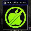 Apple Anti Decal Sticker No Mac Lime Green Vinyl 120x120
