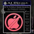 Apple Anti Decal Sticker No Mac Pink Emblem 120x120
