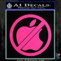 Apple Anti Decal Sticker No Mac Pink Hot Vinyl 120x120
