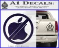 Apple Anti Decal Sticker No Mac PurpleEmblem Logo 120x97