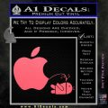 Apple Pissing On Android Decal Sticker Pink Emblem 120x120