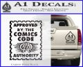 Approved By The Comics Code Decal Sticker Carbon FIber Black Vinyl 120x97