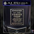 Approved By The Comics Code Decal Sticker Carbon FIber Chrome Vinyl 120x120
