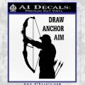 Archery Decal Sticker Draw Anchor Aim Black Vinyl 120x120