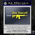 Arm Yourself 2nd Amendment Decal Sticker Yellow Laptop 120x120