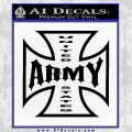 Army Iron Cross Decal Sticker Black Vinyl 120x120