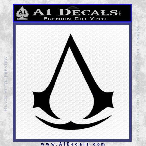 Assassins Creed Decal Sticker D1 Black Vinyl
