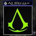 Assassins Creed Decal Sticker D1 Lime Green Vinyl 120x120