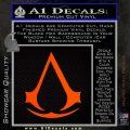 Assassins Creed Decal Sticker D1 Orange Emblem 120x120