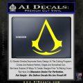 Assassins Creed Decal Sticker D1 Yellow Laptop 120x120