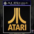 Atari Decal Sticker Full Gold Vinyl 120x120