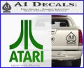 Atari Decal Sticker Full Green Vinyl Logo 120x97
