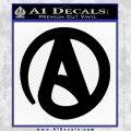 Atheist A Decal Sticker Black Vinyl 120x120