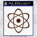 Atomic Cloud Atom Decal Sticker D1 BROWN Vinyl 120x120