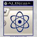 Atomic Cloud Atom Decal Sticker D1 Blue Vinyl 120x120