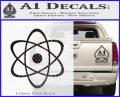 Atomic Cloud Atom Decal Sticker D1 Carbon FIber Black Vinyl 120x97