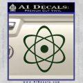 Atomic Cloud Atom Decal Sticker D1 Dark Green Vinyl 120x120