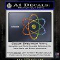 Atomic Cloud Atom Decal Sticker D1 Glitter Sparkle 120x120