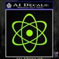 Atomic Cloud Atom Decal Sticker D1 Lime Green Vinyl 120x120