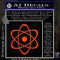 Atomic Cloud Atom Decal Sticker D1 Orange Emblem 120x120