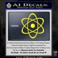 Atomic Cloud Atom Decal Sticker D1 Yellow Laptop 120x120