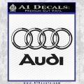 Audi 3D Rings Text Decal Sticker Black Vinyl 120x120
