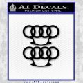 Audi Brass Knuckles Decal Sticker Black Vinyl 120x120
