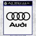 Audi Rings Text Decal Sticker Black Vinyl 120x120