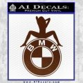 BMW Sexy Emblem Decal Sticker BROWN Vinyl 120x120