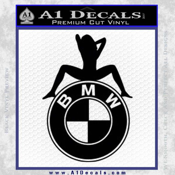 BMW Sexy Emblem Decal Sticker Black Vinyl