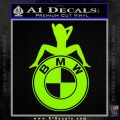 BMW Sexy Emblem Decal Sticker Lime Green Vinyl 120x120