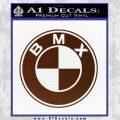 BMX Bike Decal Sticker BMW Parody BROWN Vinyl 120x120