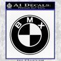 BMX Bike Decal Sticker BMW Parody Black Vinyl 120x120