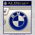 BMX Bike Decal Sticker BMW Parody Blue Vinyl 120x120