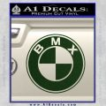 BMX Bike Decal Sticker BMW Parody Dark Green Vinyl 120x120