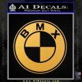 BMX Bike Decal Sticker BMW Parody Gold Vinyl 120x120