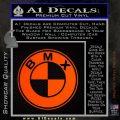 BMX Bike Decal Sticker BMW Parody Orange Emblem 120x120