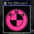 BMX Bike Decal Sticker BMW Parody Pink Hot Vinyl 120x120
