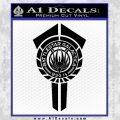 BSG Battlestar Galactica Banner BSG 75 Decal Sticker Battle Star Galactica Black Vinyl1 120x120