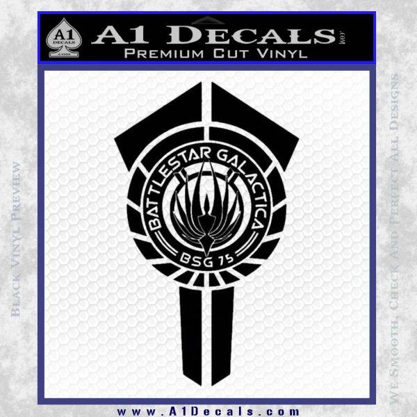 BSG Battlestar Galactica Banner BSG 75 Decal Sticker Battle Star Galactica Black Vinyl1