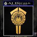 BSG Battlestar Galactica Banner BSG 75 Decal Sticker Battle Star Galactica Gold Vinyl 120x120