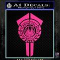 BSG Battlestar Galactica Banner BSG 75 Decal Sticker Battle Star Galactica Pink Hot Vinyl 120x120