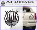 BSG Colonial Seal Decal Sticker Battle Star Galactica CFB Vinyl Black 120x97