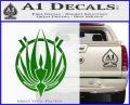 BSG Colonial Seal Decal Sticker Battle Star Galactica Green Vinyl Black 120x97