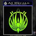 BSG Colonial Seal Decal Sticker Battle Star Galactica Neon Green Vinyl Black 120x120