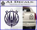 BSG Colonial Seal Decal Sticker Battle Star Galactica Purple Vinyl Black 120x97