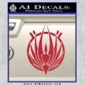 BSG Colonial Seal Decal Sticker Battle Star Galactica Red Vinyl Black 120x120